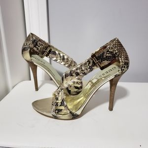 Jean's! Snake like sandals